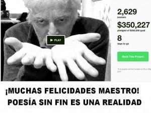 Alegría infinita ¡Poesía Sin Fin es una realidad!