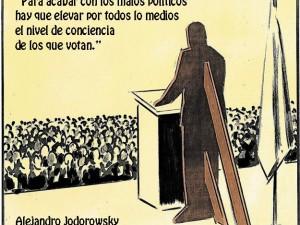 @alejodorowsky, tweets sobre política. ¡Abramos los ojos!