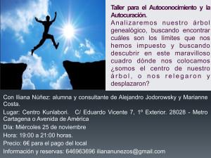 Iliana Núñez. Taller para el Autoconocimiento y la Autocuración.