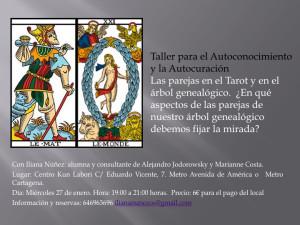 Las parejas en el Tarot y en el árbol genealógico. Taller de Iliana Nuñez en Madrid.