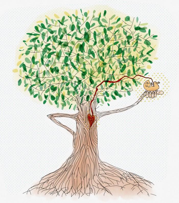 Tu Vida Está Conectada A Tu árbol Genealógico Plano Sin Fin