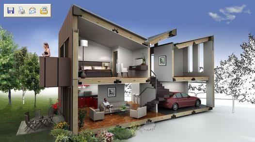 La inteligencia es una casa de dos plantas plano sin fin - Casas de dos plantas ...