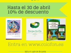 """Promoción """"Día del libro 2017"""" – 10% de descuento en nuestros libros hasta el 30 de abril"""