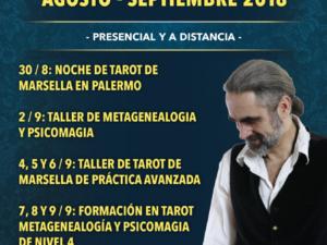 Actividades de Tarot , Psicomagia y Metagenealogia con Christophe Richart Carrozza en Argentina