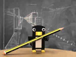 Un pingüino sabio